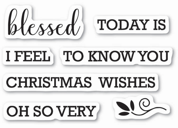 Memory Box Clear Stamps BLESSED TO KNOW YOU Open Studio CL5213 zoom image