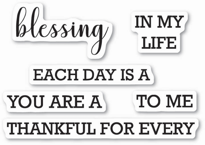 Memory Box Clear Stamps EACH DAY IS A BLESSING Open Studio CL5214 zoom image