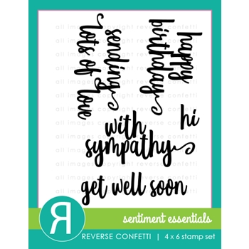 Reverse Confetti SENTIMENT ESSENTIALS Clear Stamp Set