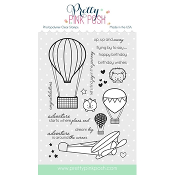 Pretty Pink Posh FLY AWAY FRIENDS Clear Stamp Set
