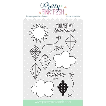 Pretty Pink Posh FLY A KITE Clear Stamp Set