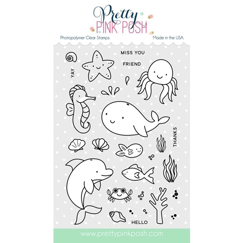 Pretty Pink Posh SEA FRIENDS Clear Stamp Set* Preview Image