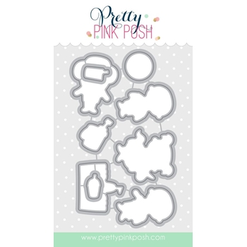 Pretty Pink Posh SUMMER FRIENDS COORDINATING DIE Set
