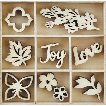 Kaisercraft BOUQUET Wooden Flourish Pack FL604