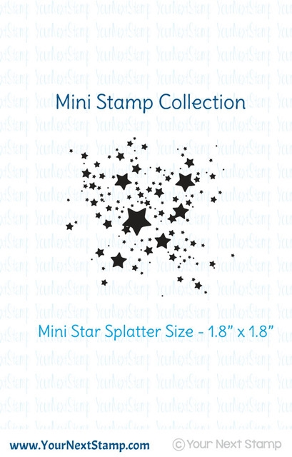 Your Next Stamp MINI STAR INK SPLATTER Clear CYNS313 zoom image