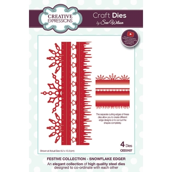 Creative Expressions SNOWFLAKE EDGER Sue Wilson Festive Collection Die Set CED3107