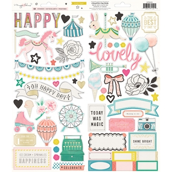 Crate Paper CAROUSEL 6 x 12 Gold Foil Stickers 379120
