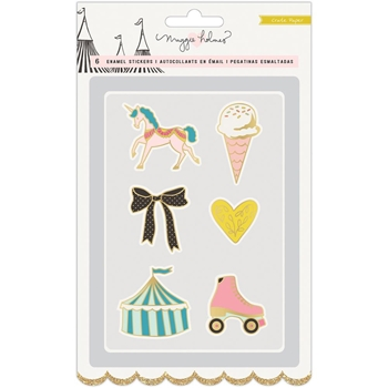 Crate Paper CAROUSEL Faux Enamel Stickers 379130