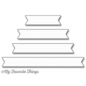 My Favorite Things ESSENTIAL FISHTAIL SENTIMENT STRIPS Die-Namics MFT1124