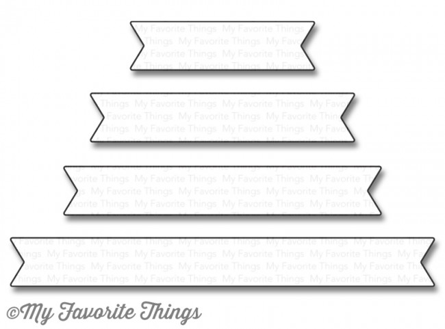 My Favorite Things ESSENTIAL FISHTAIL SENTIMENT STRIPS Die-Namics MFT1124 zoom image
