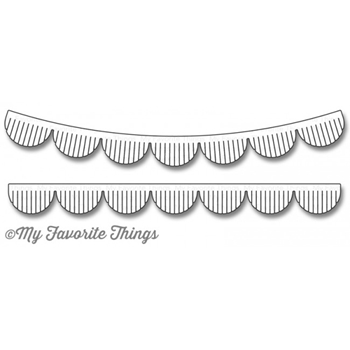 My Favorite Things FRINGED SCALLOP BORDERS Die-Namics MFT1142