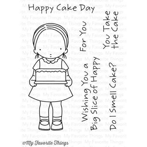 Pure Innocence HAPPY CAKE DAY Clear Stamps MFT PI265 Preview Image