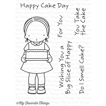 Pure Innocence HAPPY CAKE DAY Clear Stamps MFT PI265
