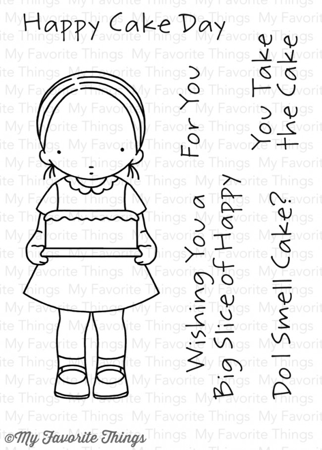 Pure Innocence HAPPY CAKE DAY Clear Stamps MFT PI265 zoom image