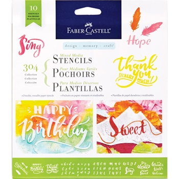 Faber-Castell 304 LETTERING AND CALLIGRAPHY Stencil Set 770606
