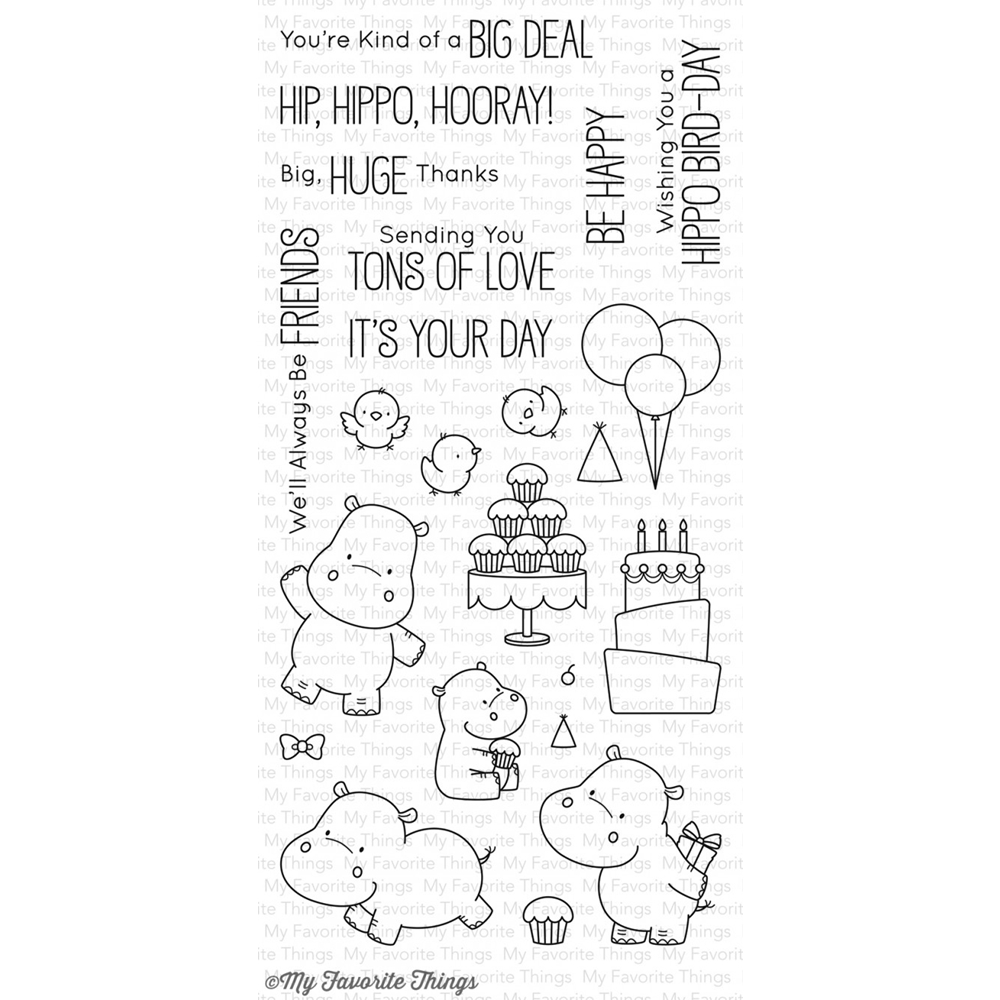My Favorite Things HAPPY HIPPOS Clear Stamps BB47 zoom image