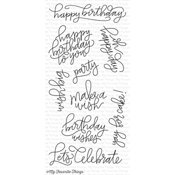 My Favorite Things HANDWRITTEN HAPPINESS Clear Stamps CS214