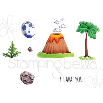 Stamping Bella Cling Stamp CAVE KIDS ADD-ONS Rubber UM EB528
