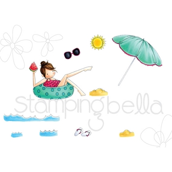 Stamping Bella Cling Stamp TINY TOWNIE FRANCES LOVES TO FLOAT Rubber UM EB521