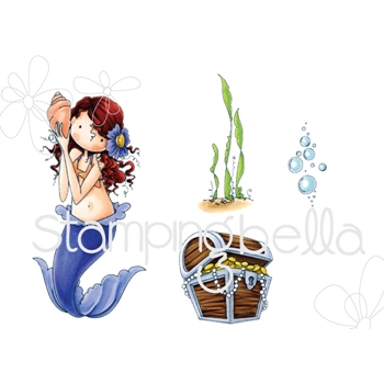 Stamping Bella Cling Stamp TINY TOWNIE MERMAID SET Rubber UM EB519
