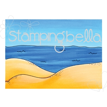 Stamping Bella Cling Stamp BEACH BACKDROP Rubber UM EB516