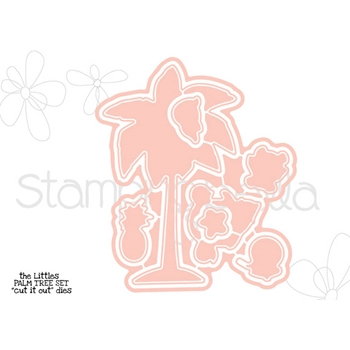 Stamping Bella THE LITTLES PALM TREE SET Cut It Out Die CIO508DIE