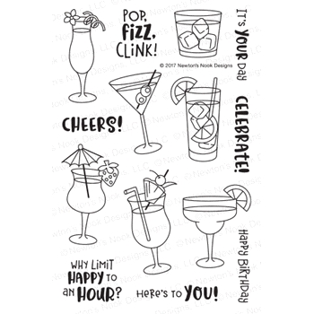 Newton's Nook Designs COCKTAIL MIXER Clear Stamp Set NN1707S02