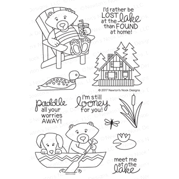 Newton's Nook Designs WINSTON'S LAKE HOUSE Clear Stamp Set NN1707S01
