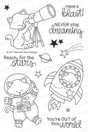 Newton's Nook Designs COSMIC NEWTON Clear Stamp Set NN1707S03 Preview Image