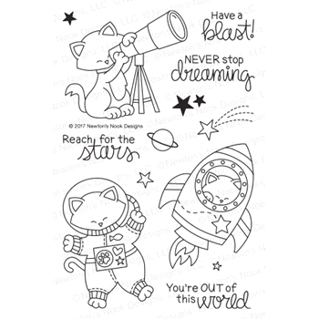 Newton's Nook Designs COSMIC NEWTON Clear Stamp Set NN1707S03