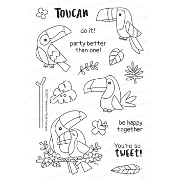 Newton's Nook Designs TOUCAN PARTY Clear Stamp Set NN1707S04