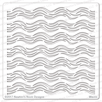 Newton's Nook Designs WAVES Stencil NN1707T04