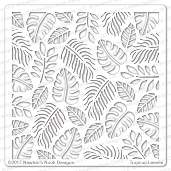 Newton's Nook Designs TROPICAL LEAVES Stencil NN1707T02