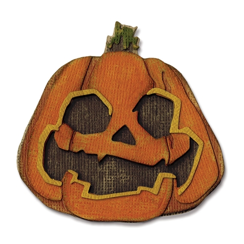 Tim Holtz Sizzix LAYERED JACK-O-LANTERN Thinlits Die 662373 Preview Image