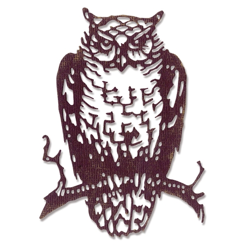 Tim Holtz Sizzix ORNATE OWL Thinlits Die 662380 Preview Image
