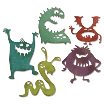 Tim Holtz Sizzix SILLY MONSTERS Thinlits Die 662374
