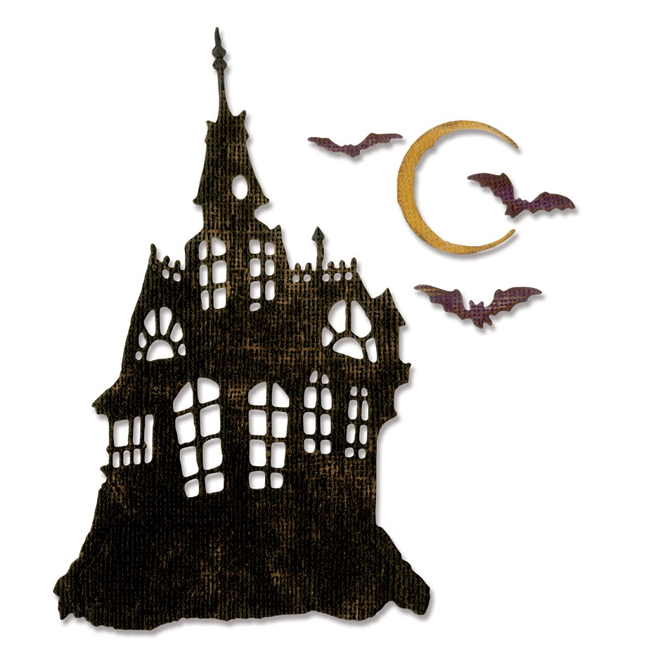 Tim Holtz Sizzix HAUNTED HOUSE Thinlits Die 662378 zoom image