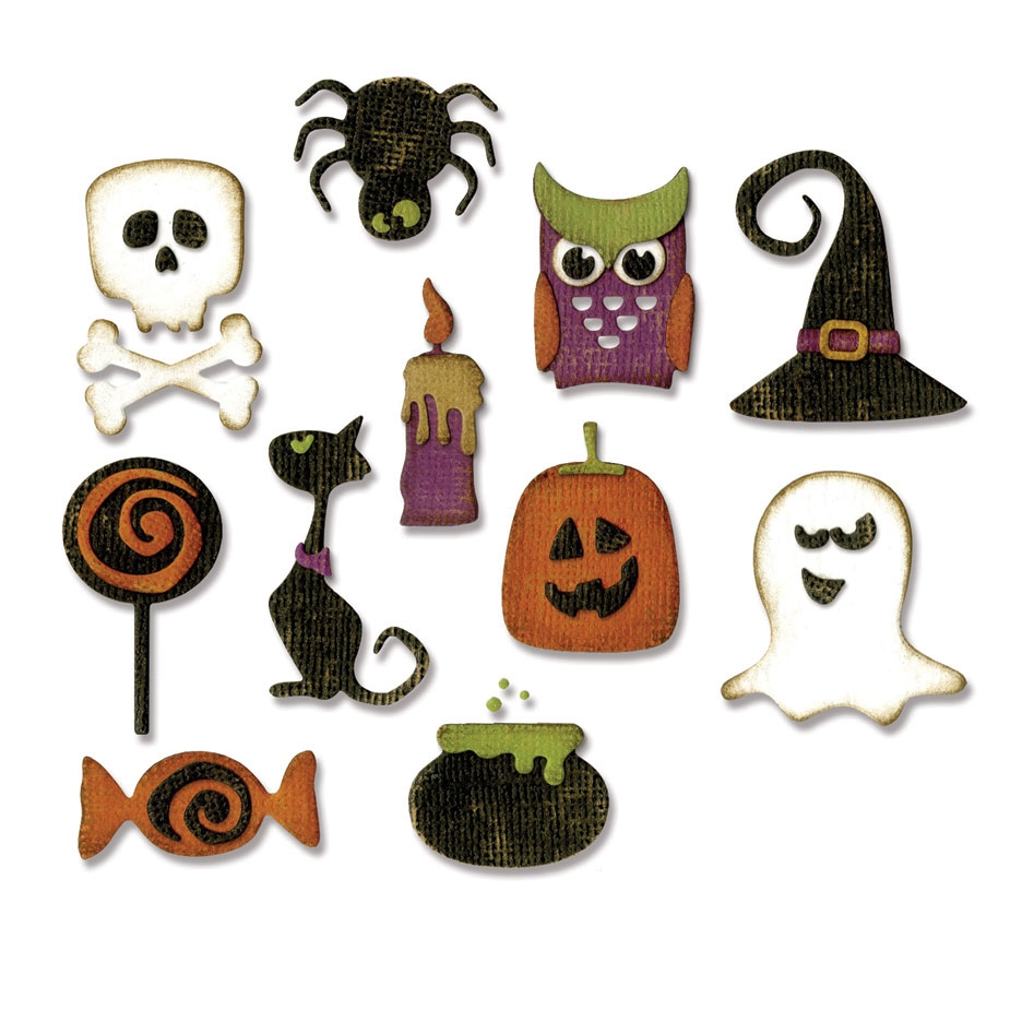 Tim Holtz Sizzix MINI HALLOWEEN THINGS Thinlits Die 662379 zoom image