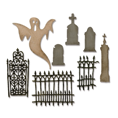 Tim Holtz Sizzix VILLAGE GRAVEYARD Thinlits Die 662377 Preview Image