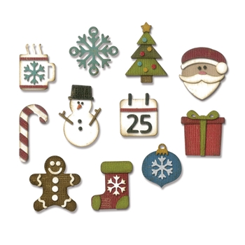 RESERVE Tim Holtz Sizzix MINI CHRISTMAS THINGS Thinlits Die 662418