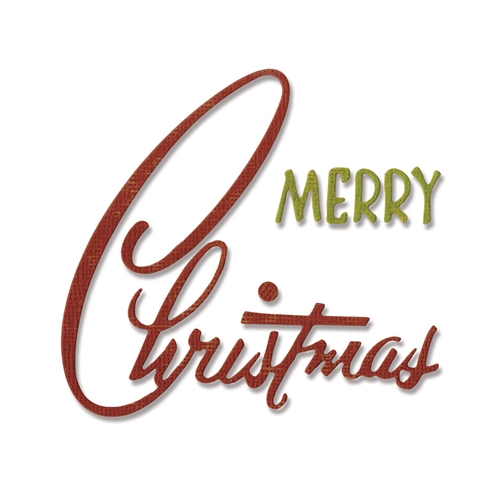Tim Holtz Sizzix RETRO MERRY CHRISTMAS Thinlits Die 662420 Preview Image