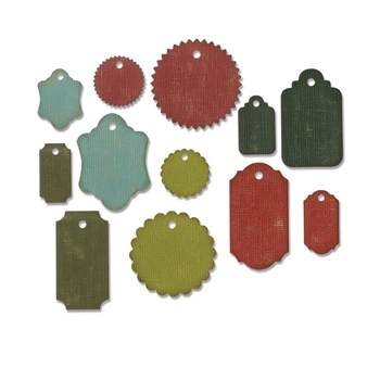 Tim Holtz Sizzix GIFT TAGS Thinlits Die 662423