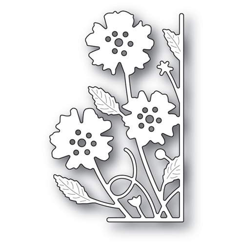 Memory Box SMALL ANTILLES FLORAL RIGHT CORNER Craft Die 99632 Preview Image
