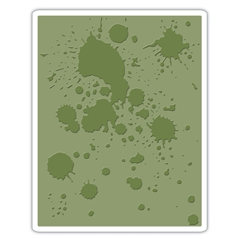 Tim Holtz Sizzix INK SPLATS Texture Fades Embossing Folder 662366