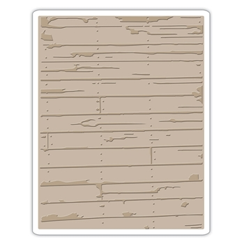 RESERVE Tim Holtz Sizzix WOOD PLANKS Texture Fades Embossing Folder 662370