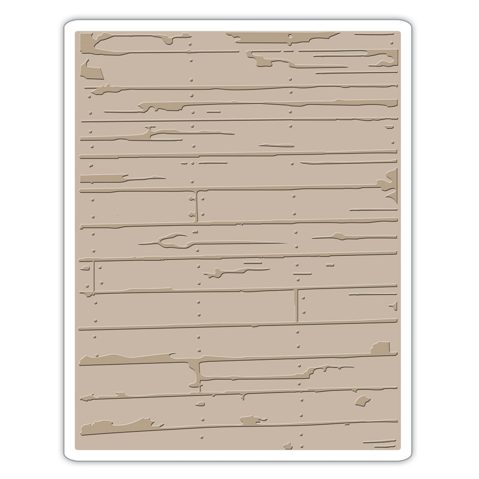 Tim Holtz Sizzix WOOD PLANKS Texture Fades Embossing Folder 662370 zoom image