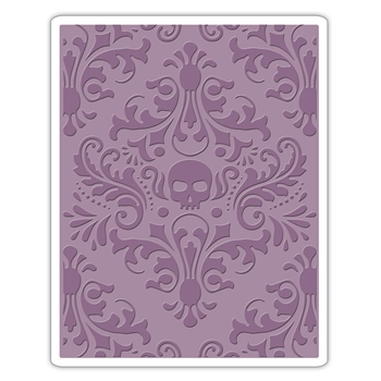 Tim Holtz Sizzix SKULL DAMASK Texture Fades Embossing Folder 662390