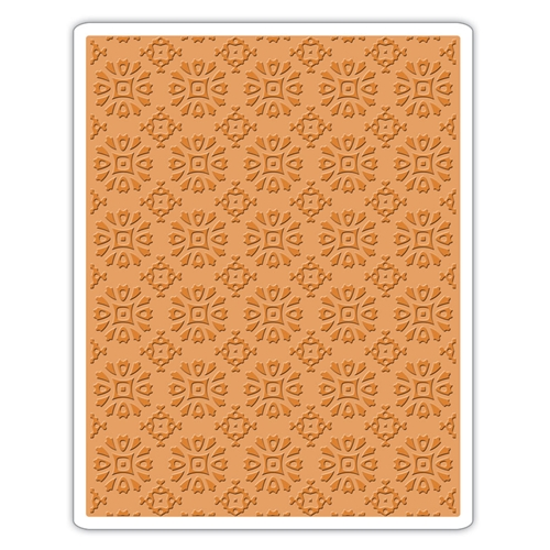 Tim Holtz Sizzix ROSETTES Texture Fades Embossing Folder 662391 Preview Image