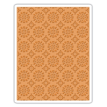 Tim Holtz Sizzix ROSETTES Texture Fades Embossing Folder 662391