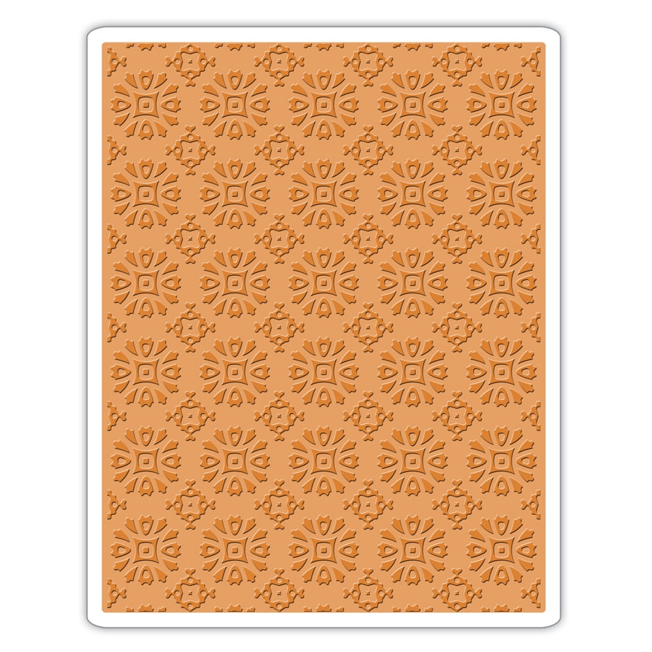 Tim Holtz Sizzix ROSETTES Texture Fades Embossing Folder 662391 zoom image